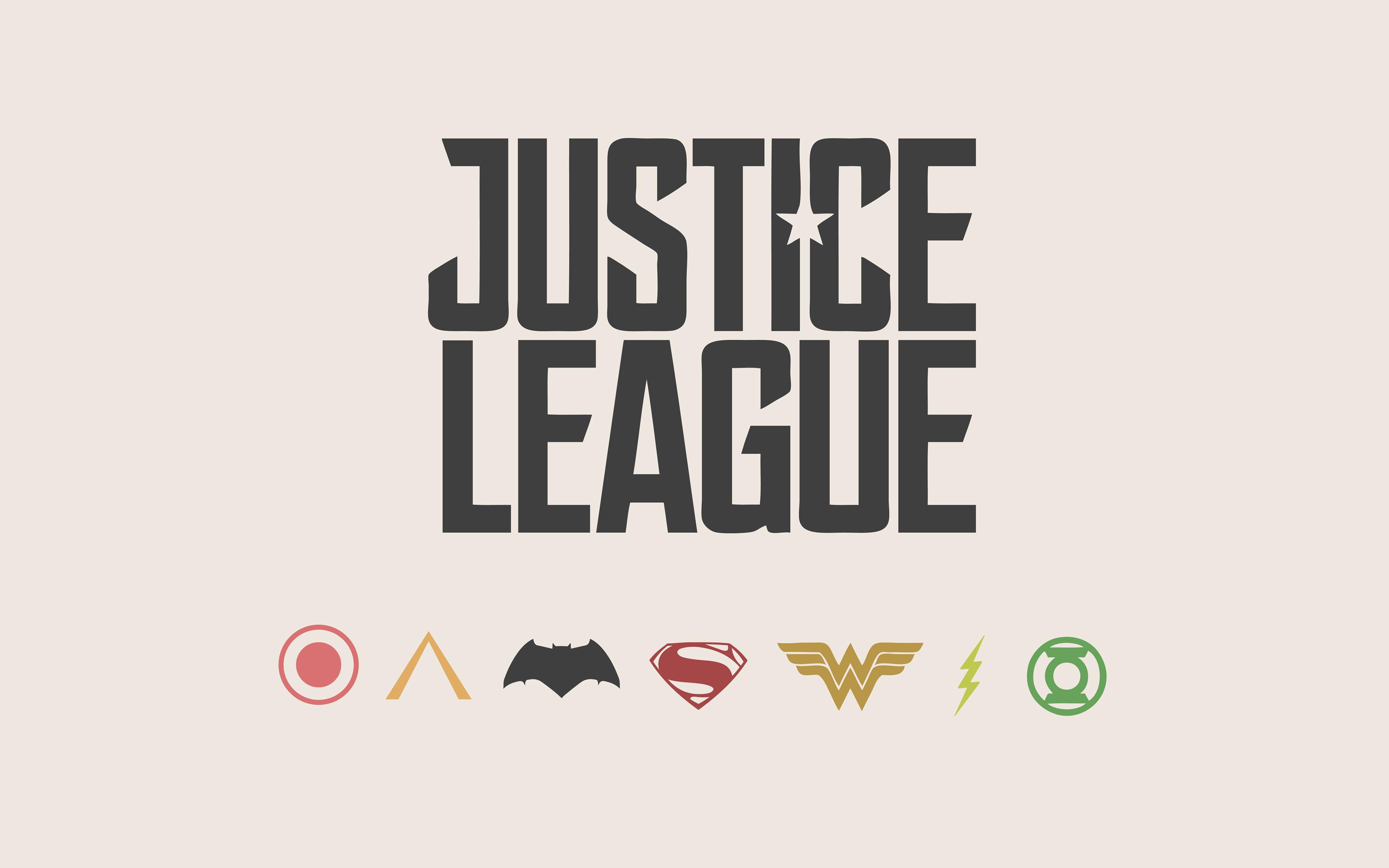 Лига справедливости минимальный 8к. обои скачать