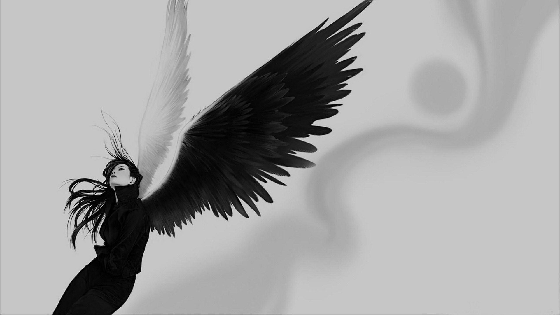 Девушка, крылья обои скачать