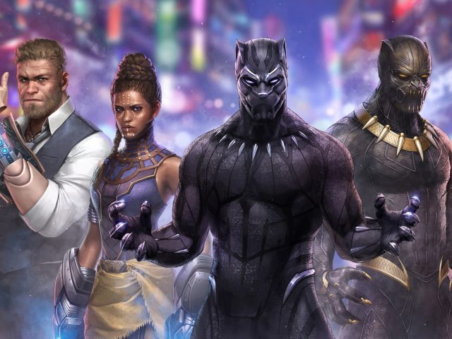 Черная пантера Марвел битва будущего произведения искусства