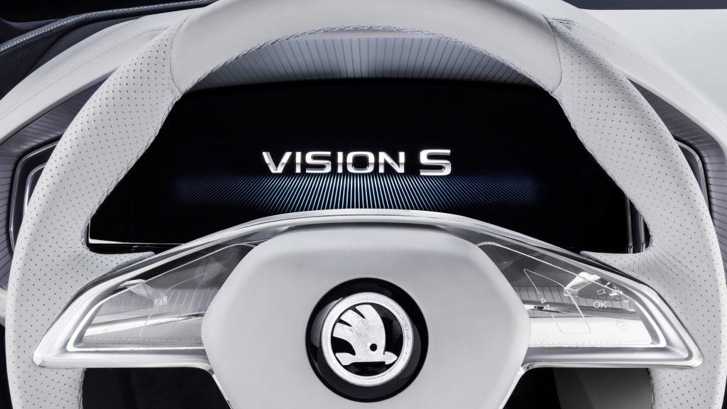 Шкода Vision логотип с. обои скачать