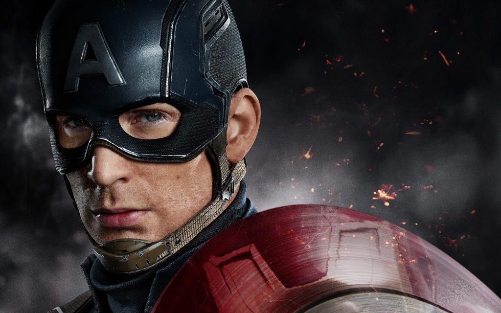 Капитан Америка гражданская война Крис Эванс. обои скачать