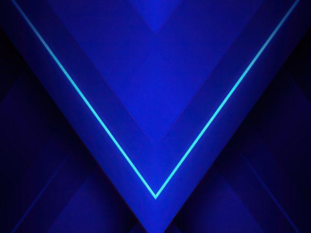 Синий треугольник абстрактный абстрактный