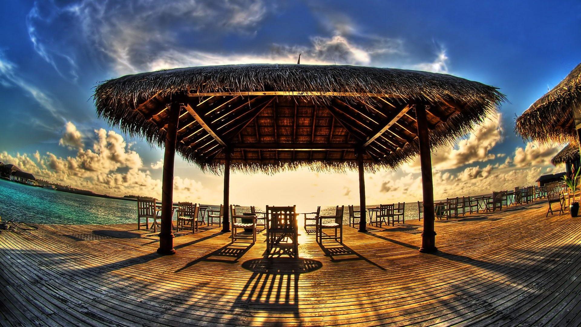 Ресторан на багамах обои скачать
