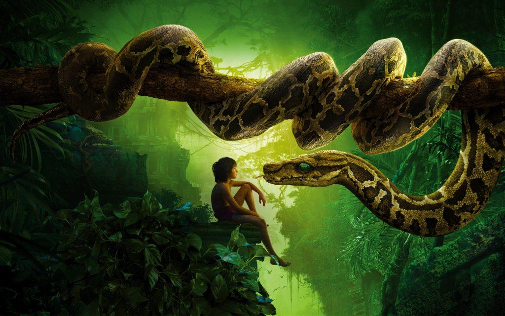 Книга джунглей Маугли удав Каа. обои скачать