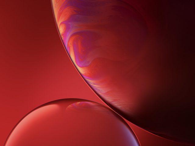 IPhone XR красные пузыри фондовой