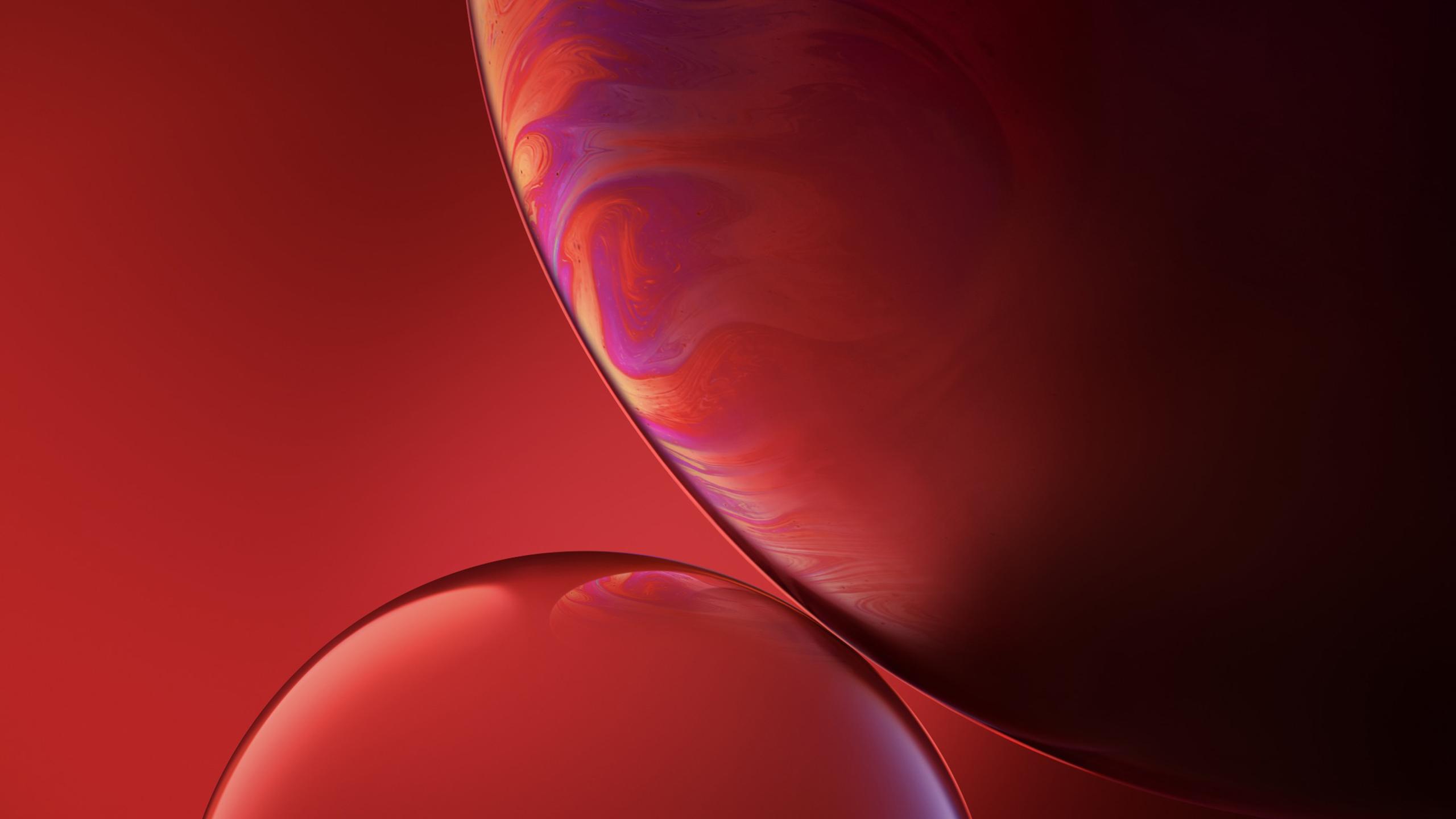 IPhone XR красные пузыри фондовой обои скачать