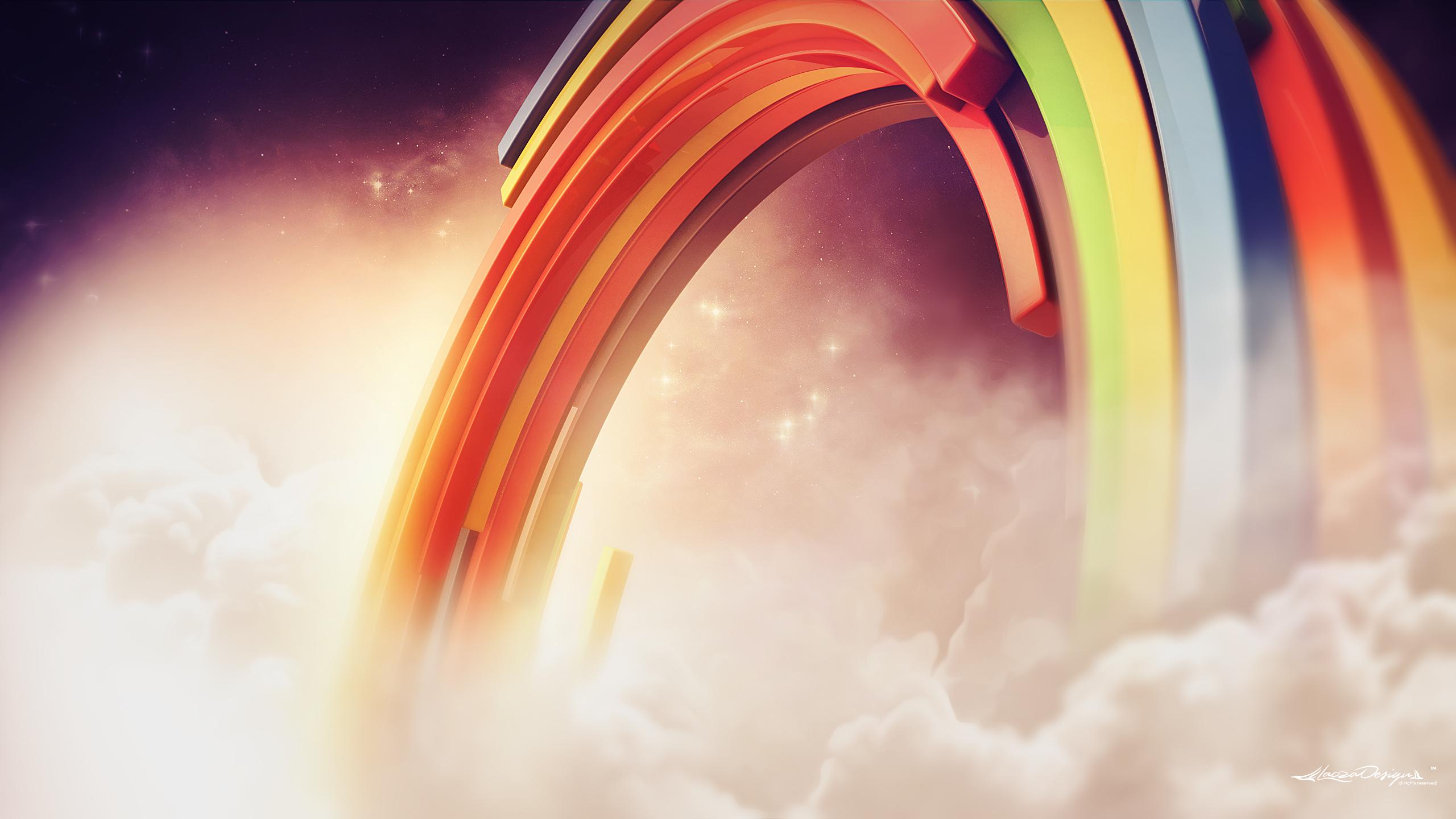 3д радуги обои скачать