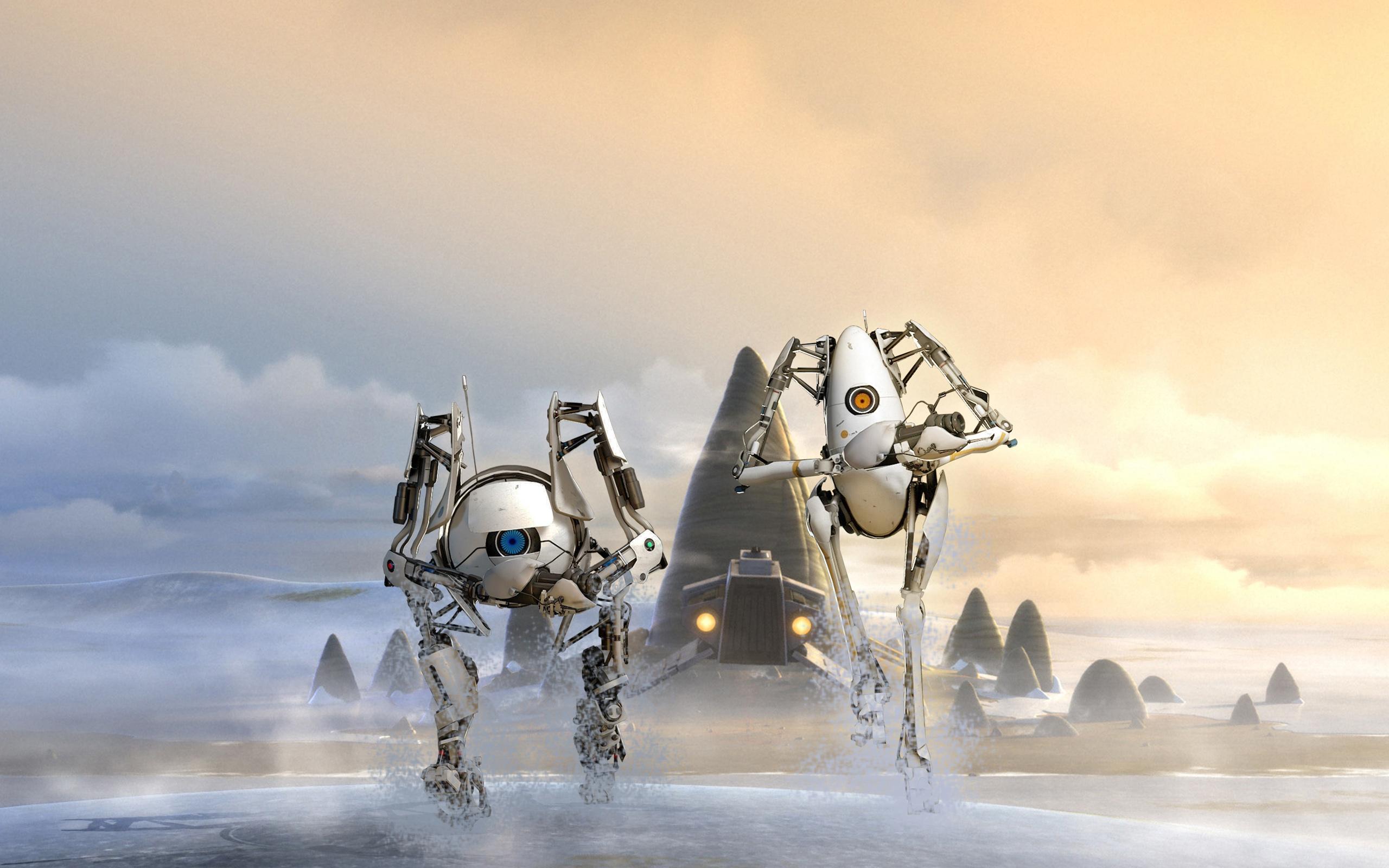Портал 2 роботы атлас п тела. обои скачать