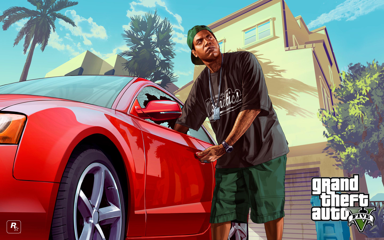 Grand Theft Auto V, Rockstar Games, машина, арт обои скачать