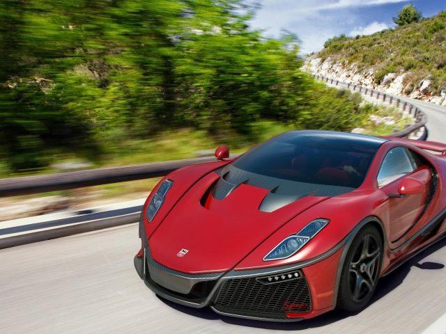 Красный спаяния гта спортивный автомобиль автомобили Спано