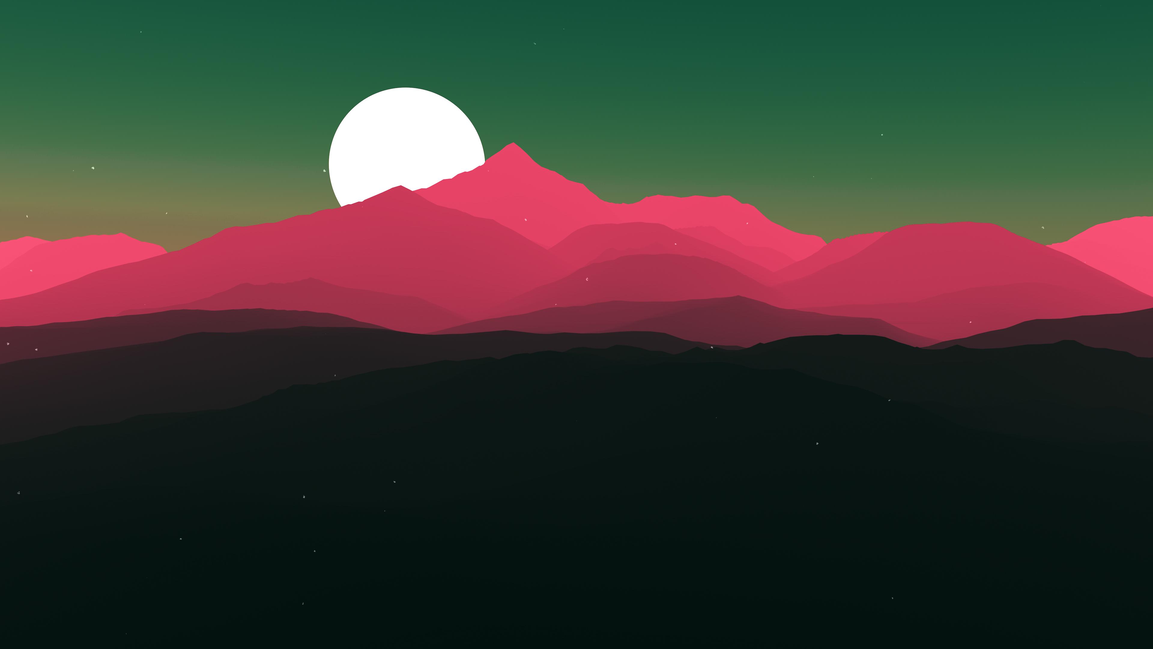 Moon sun минимальное произведение искусства обои скачать