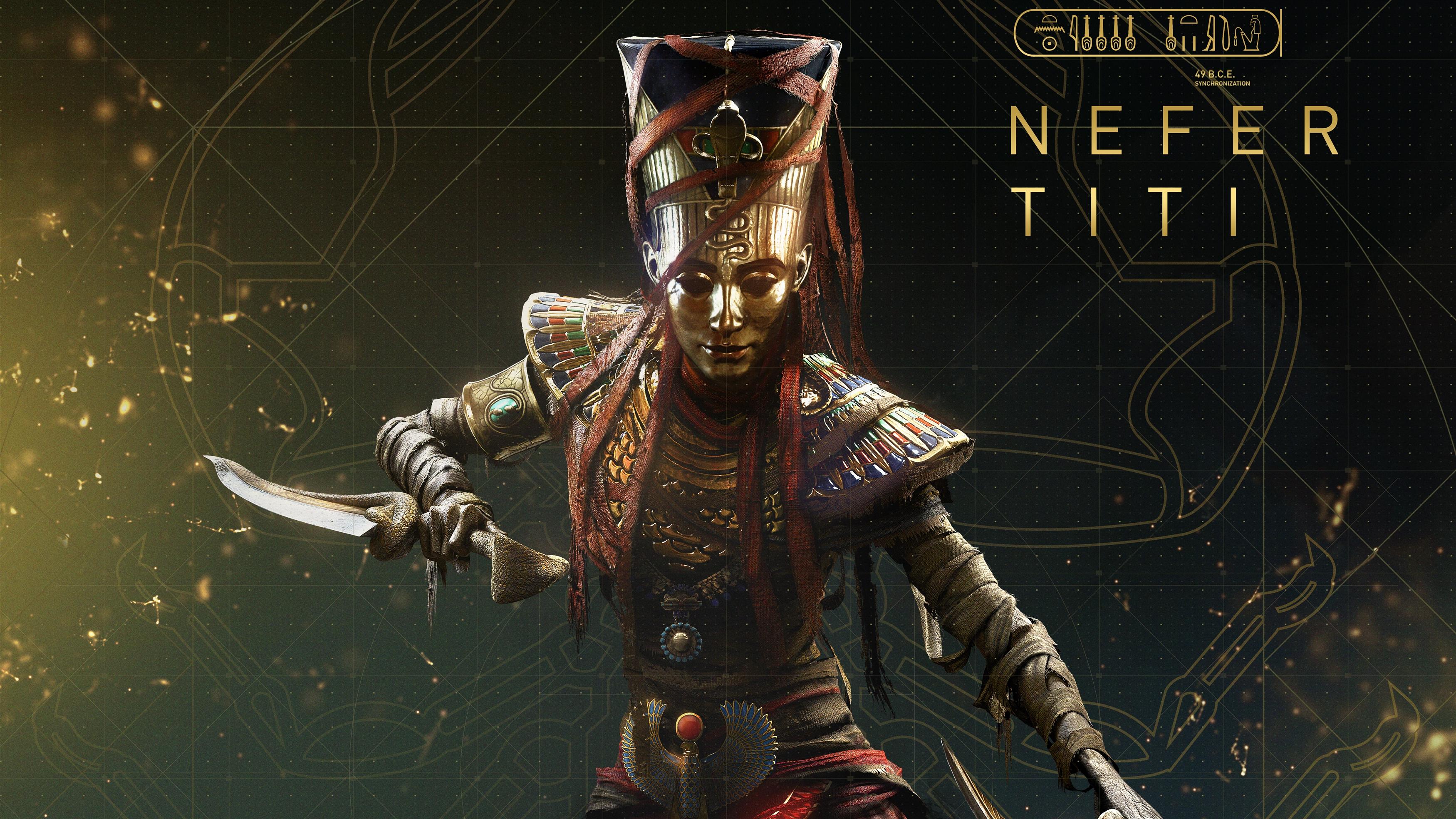 Assassins creed происхождение Нефертити обои скачать