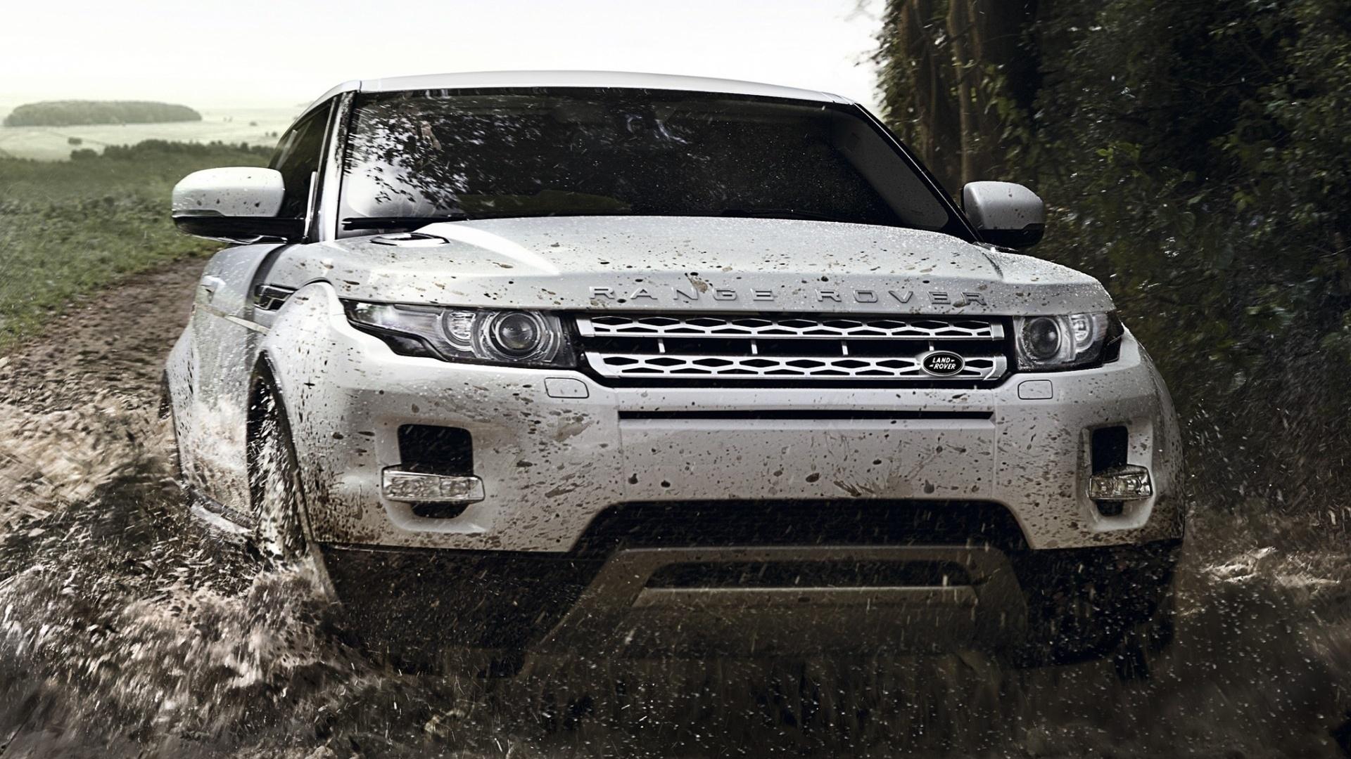 Белый Range Rover sport обои скачать