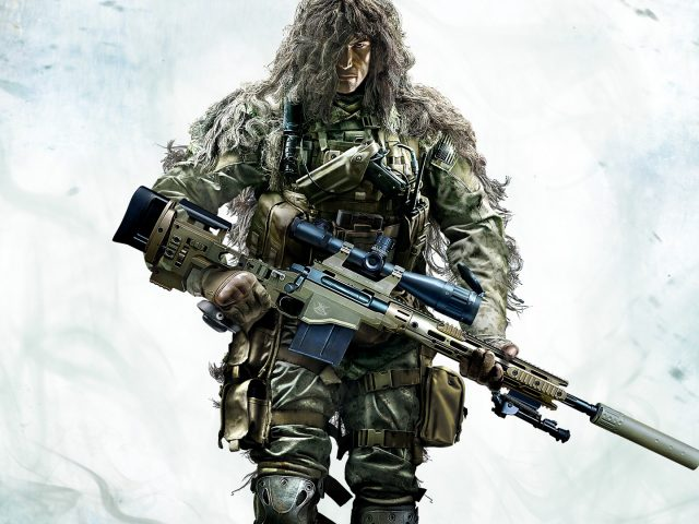 Из игры Sniper: Ghost Warrior 2 боец в комуфляже
