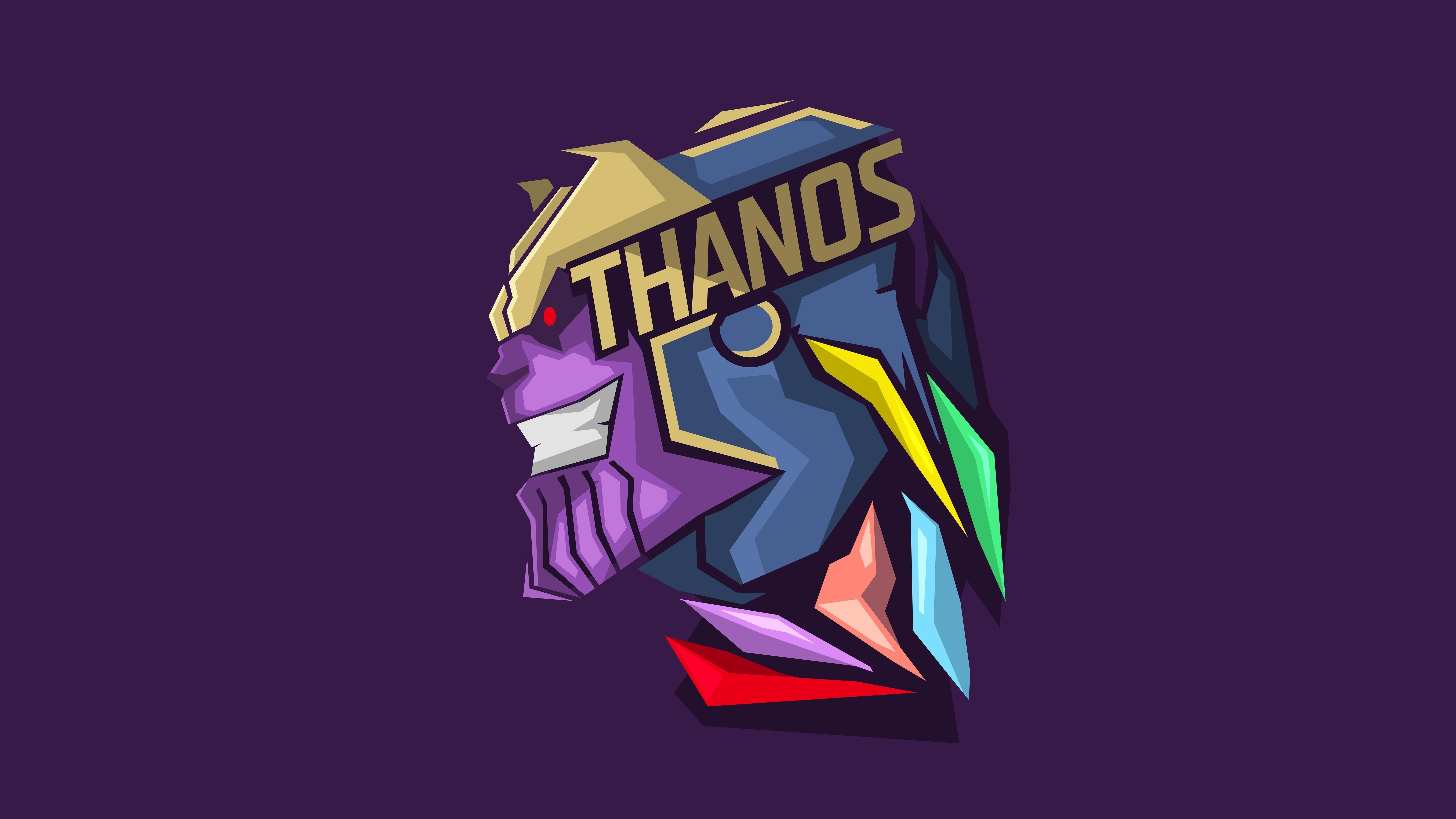Танос минимальное художественное произведение обои скачать
