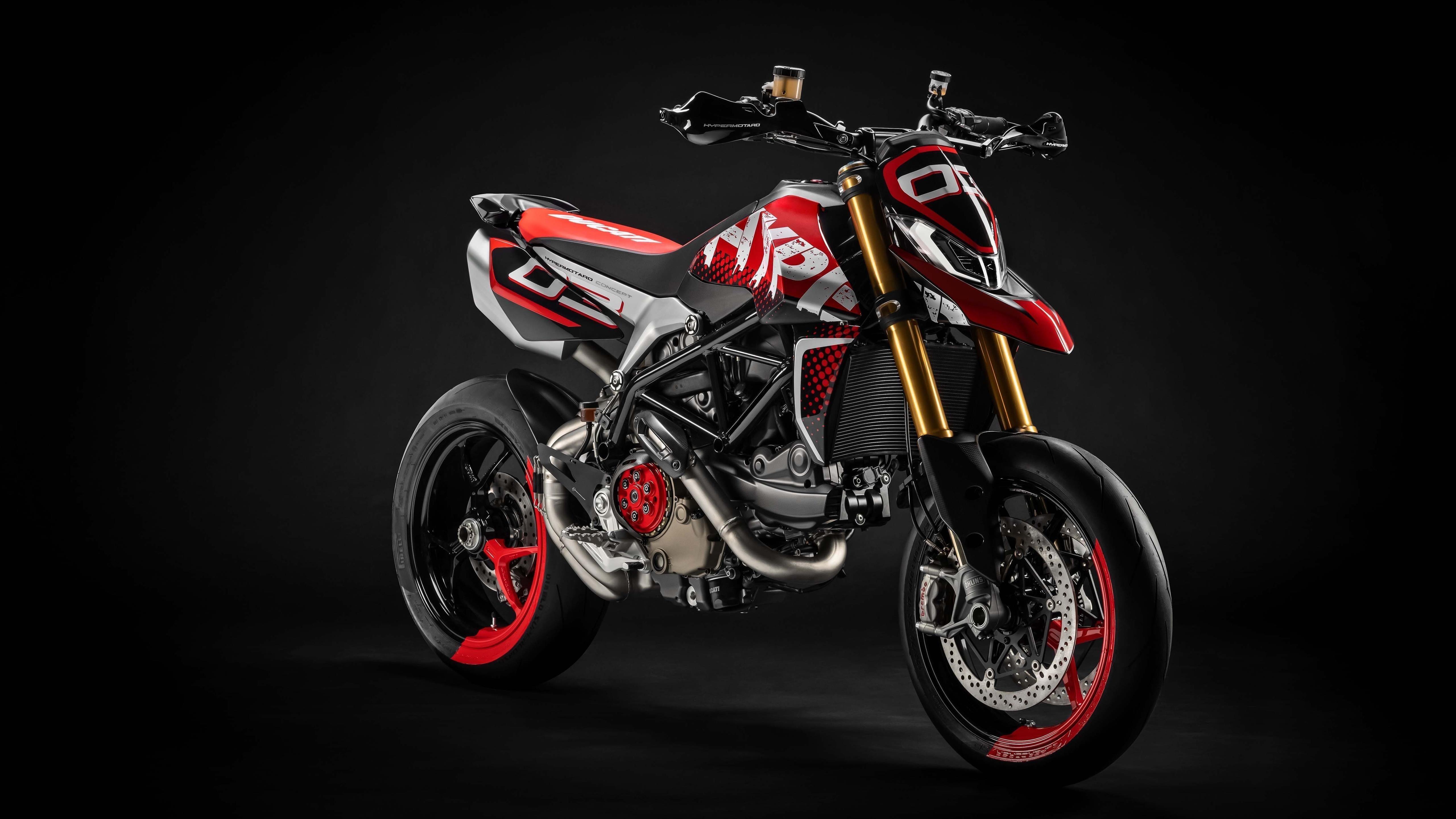 Ducati hypermotard 950 concept 2019 обои скачать