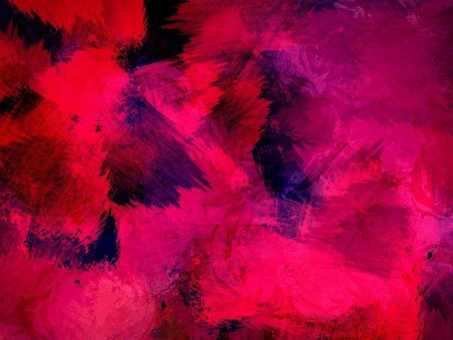 Розовые фигуры живопись абстракция