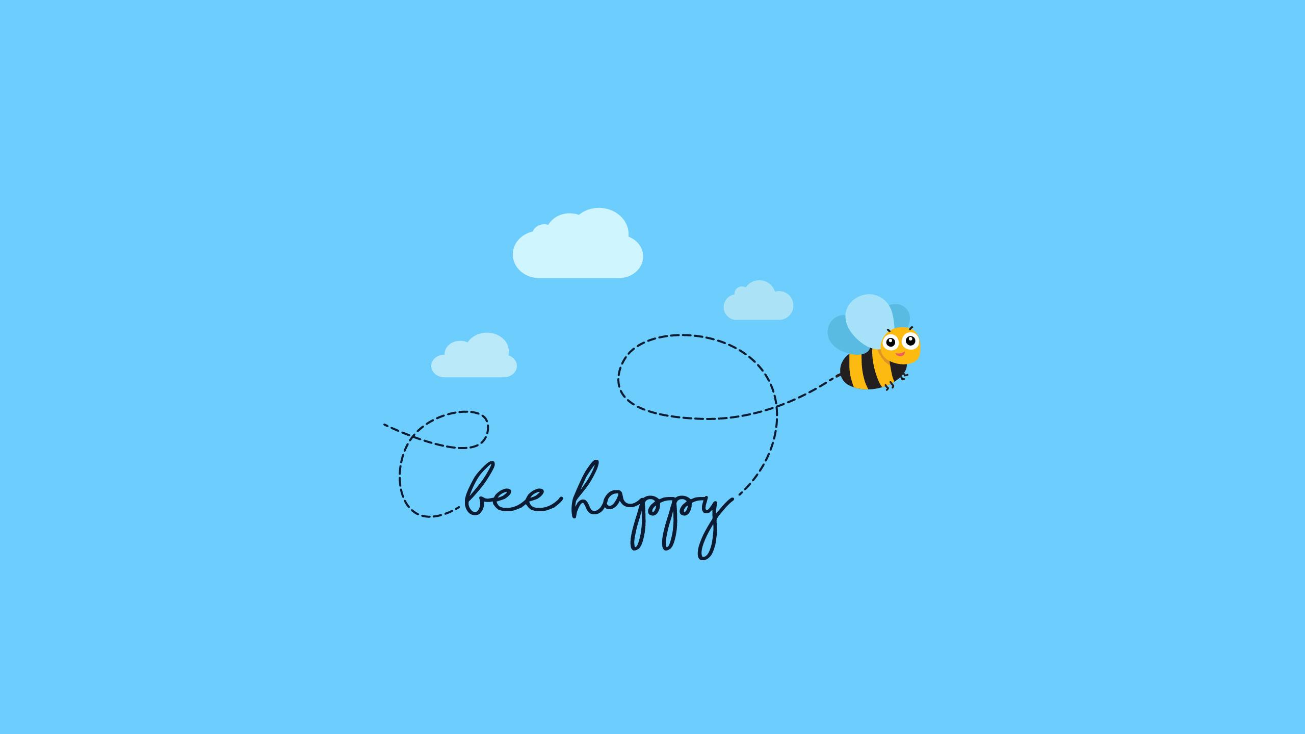 Пчела счастлив обои скачать