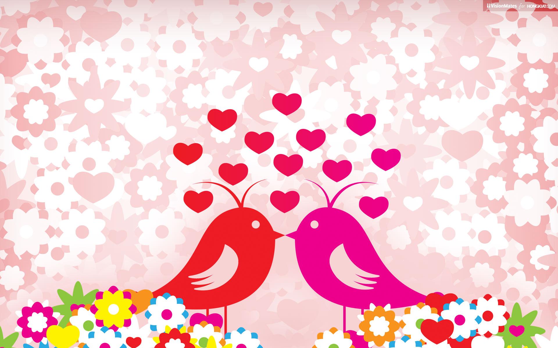 Любовь птицы. обои скачать