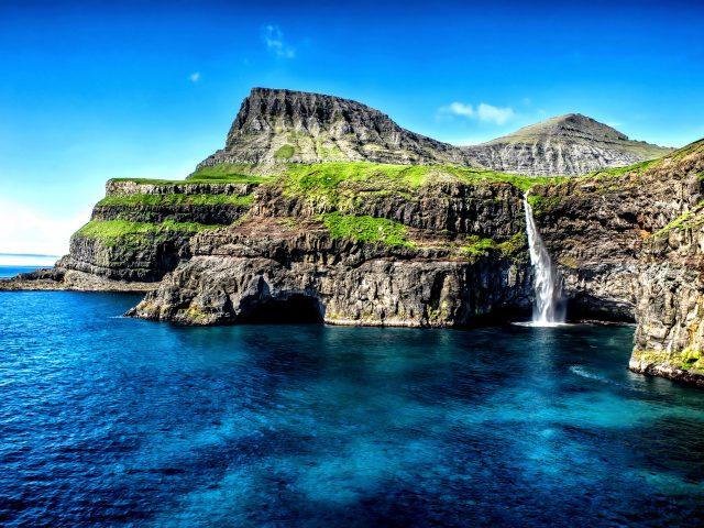 Гавайи водопад острова.