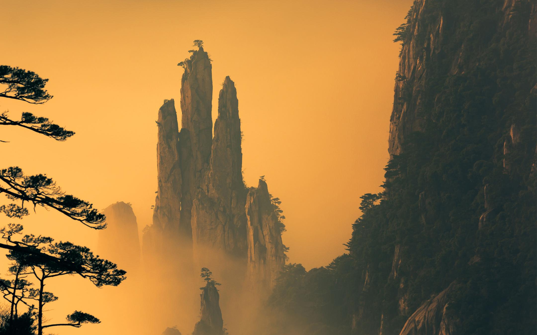 Горы хуаншань обои скачать