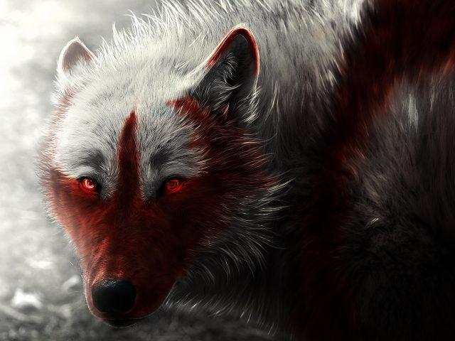 Художественное произведение арктического волка