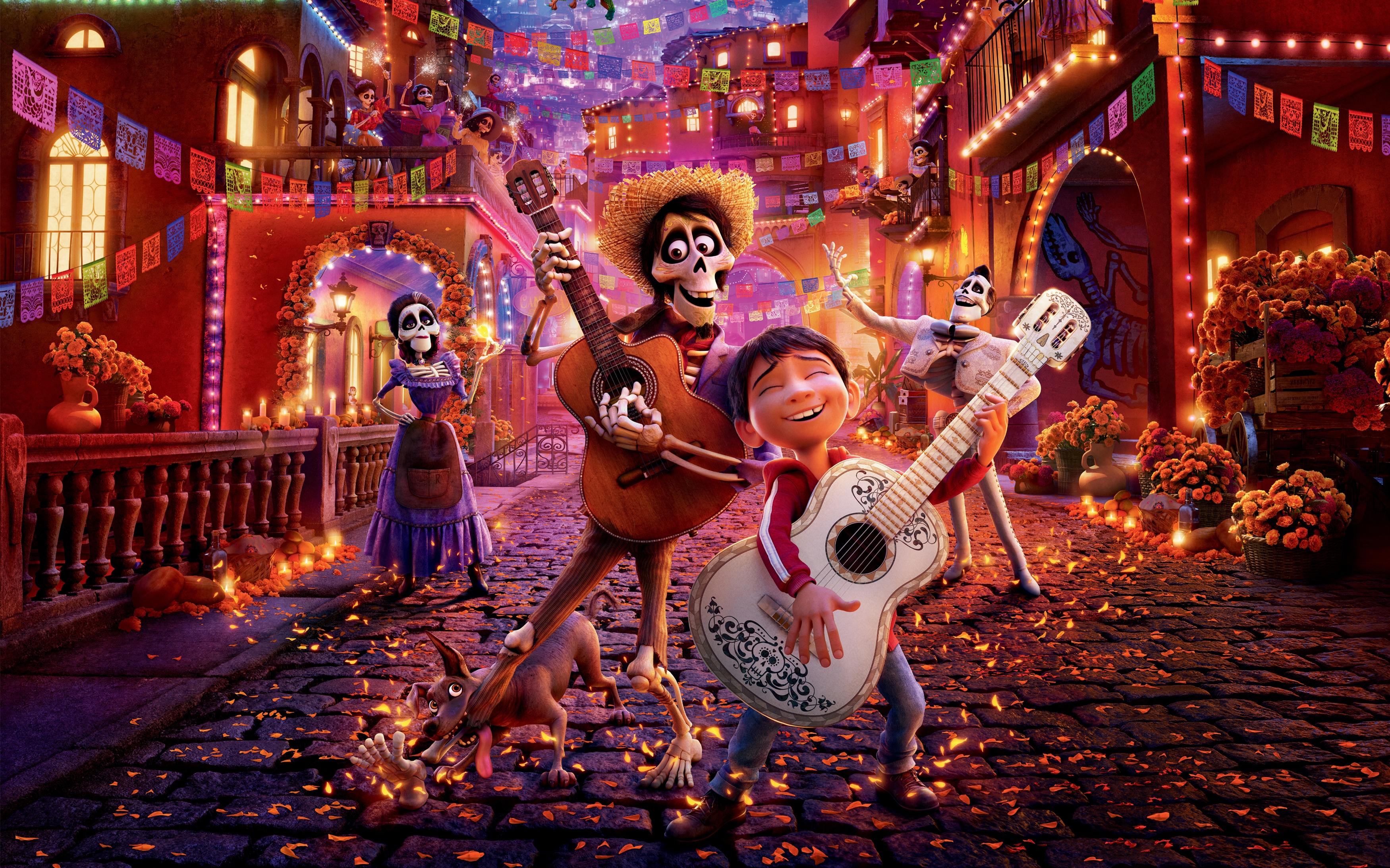Анимация Coco Pixar обои скачать