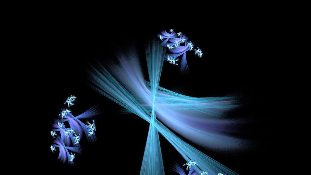 Синие фрактальные паттерны линии абстрактные обои скачать