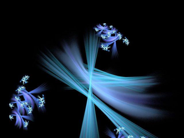 Синие фрактальные паттерны линии абстрактные