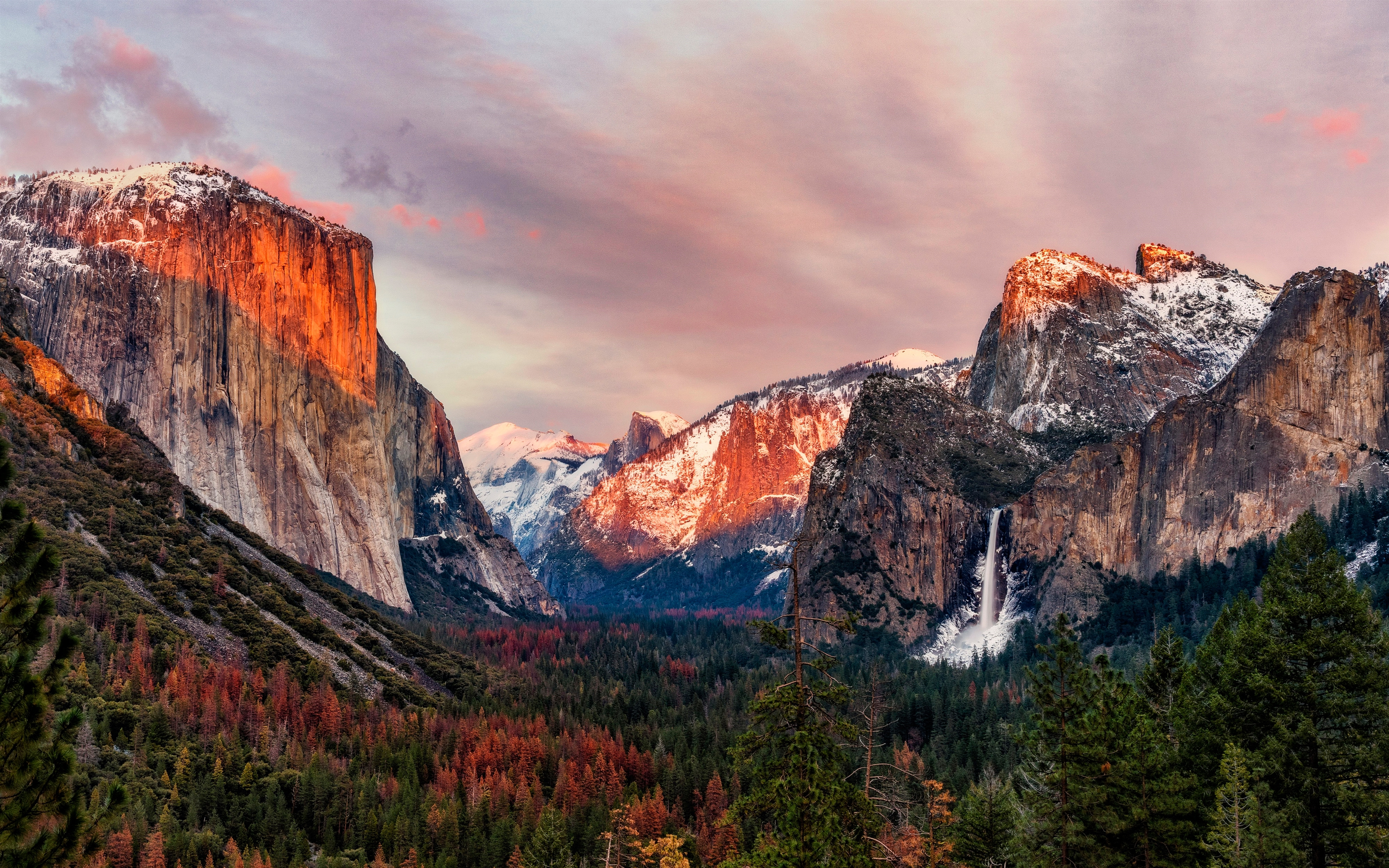 El capitan yosemite valley. обои скачать
