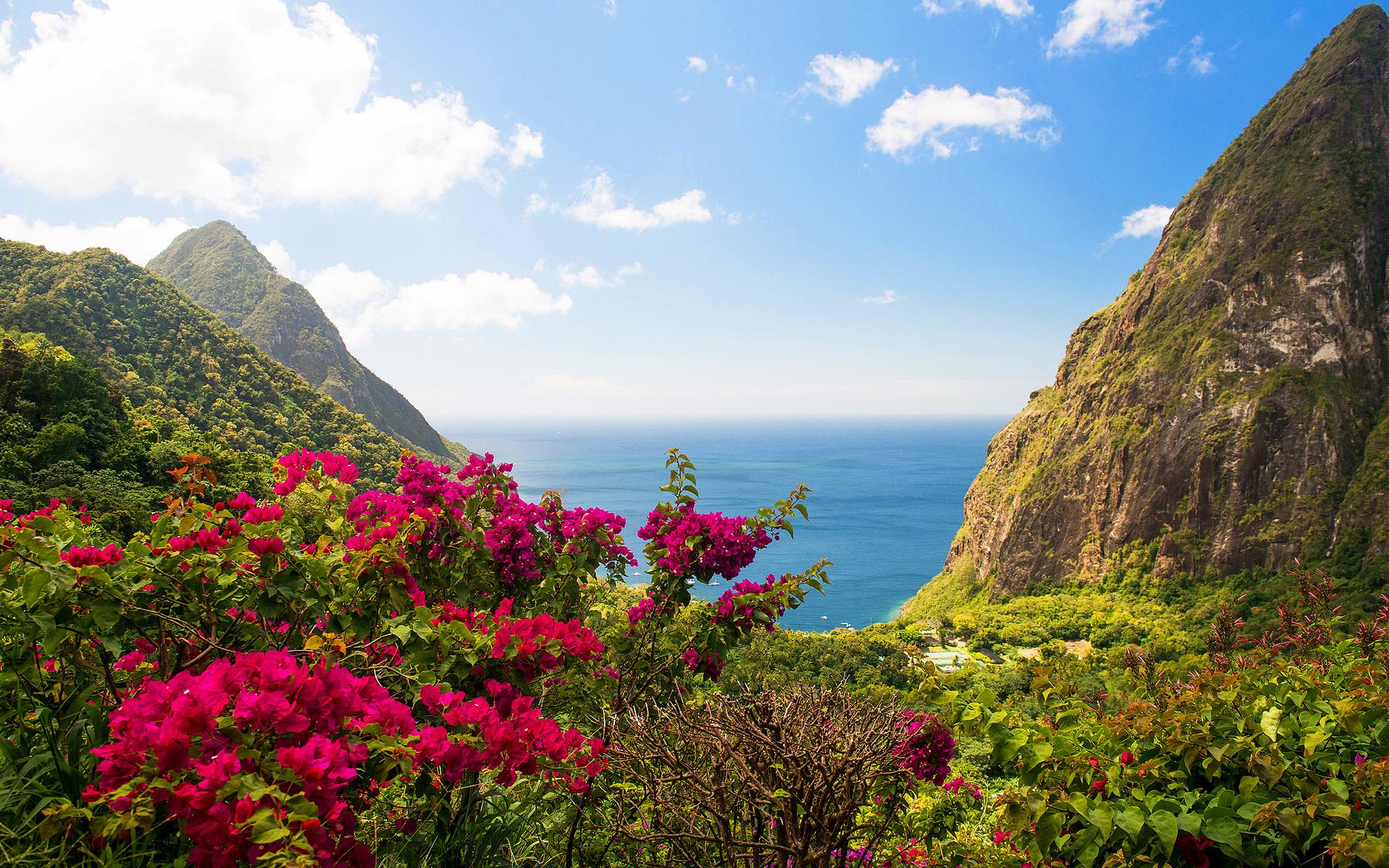Индия остров горный пейзаж. обои скачать