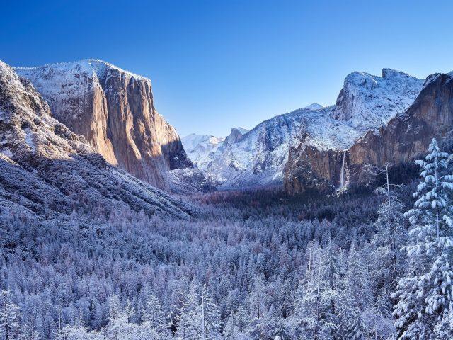 Национальный парк Йосемити зимние пейзажи
