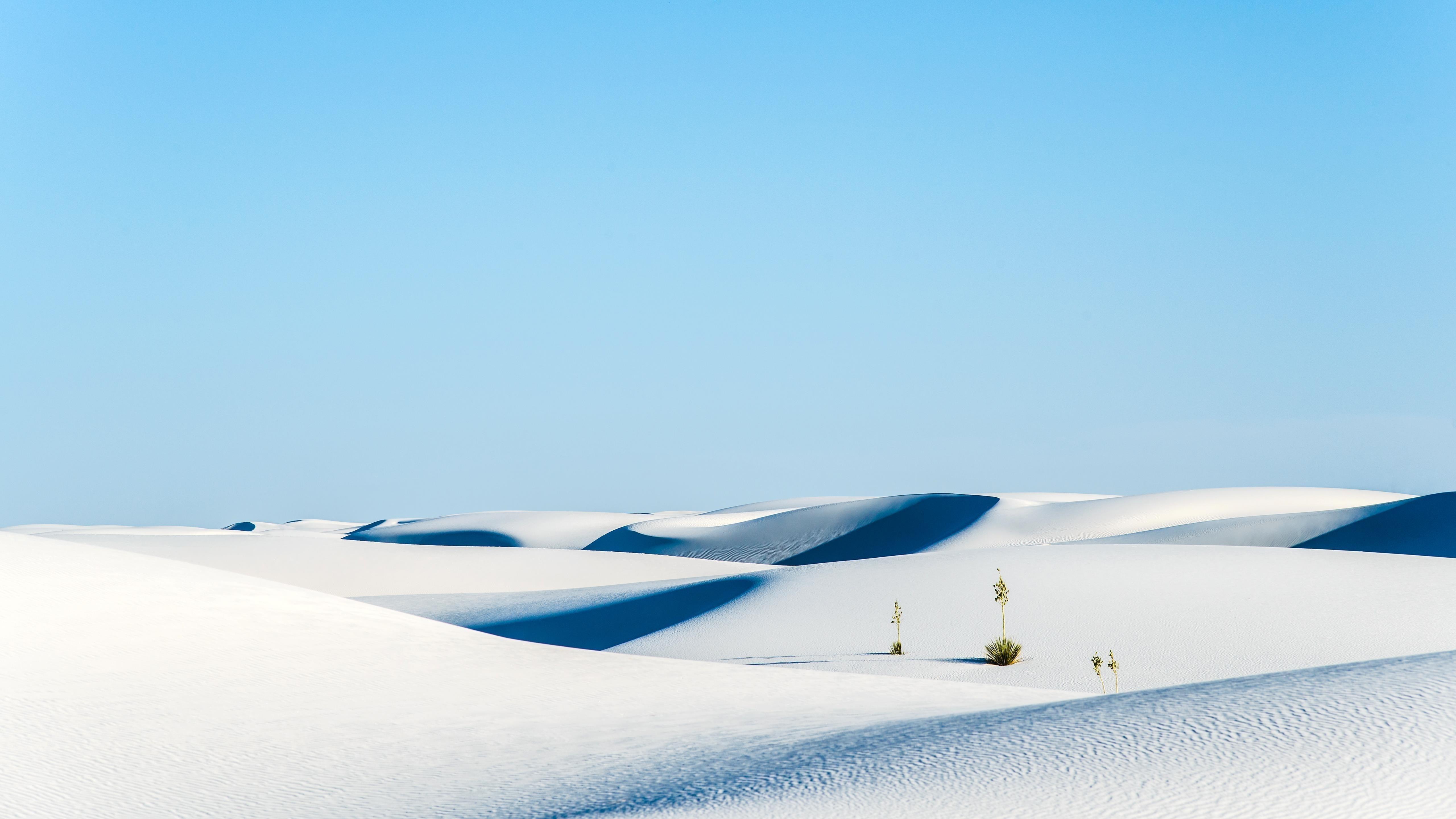 Белый песок национальный памятник пустыня обои скачать