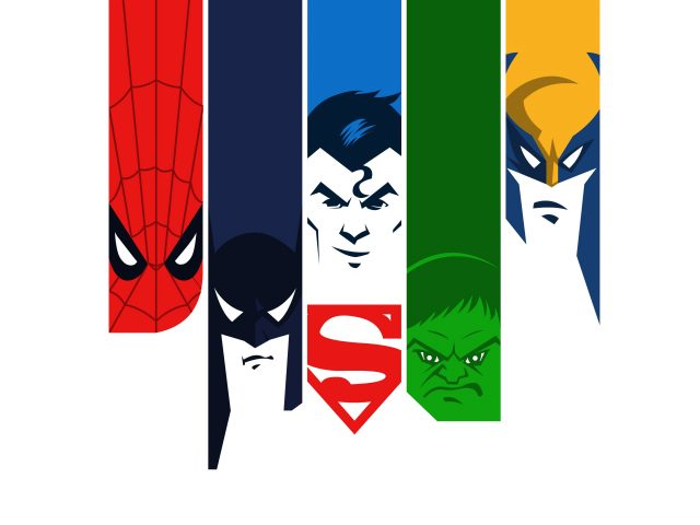 Человек-паук Бэтмен Халк супермен минимальный