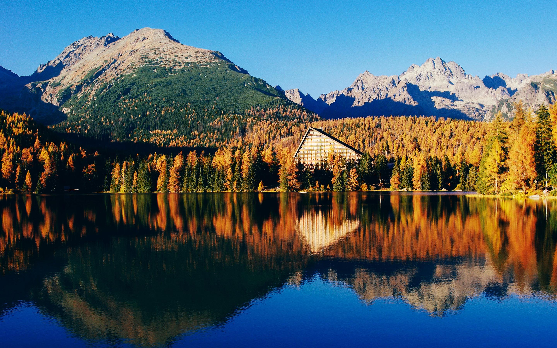 Красивые пейзажи озера. обои скачать