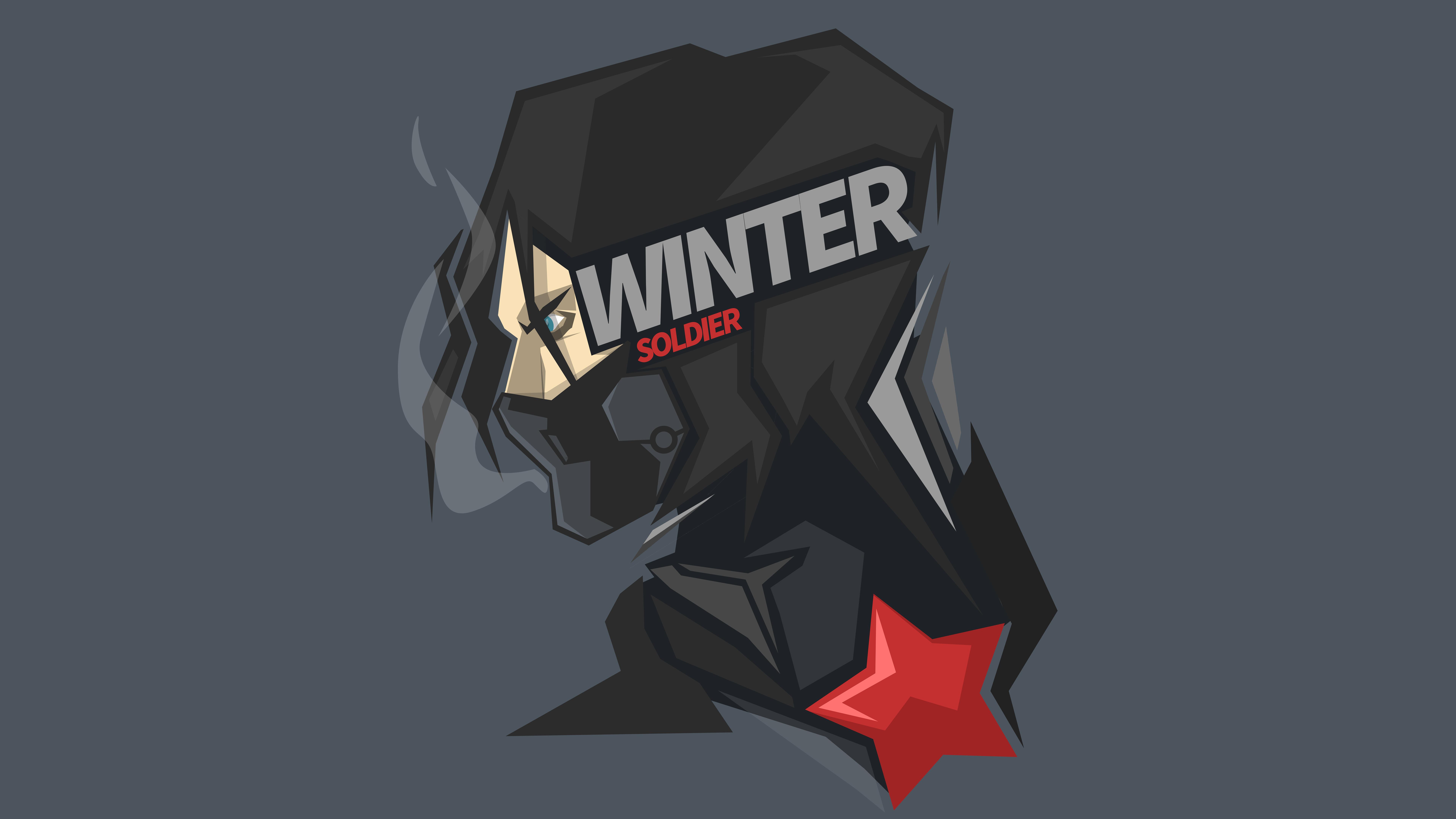 Зимний солдат минимальные произведения искусства обои скачать