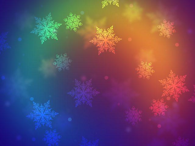 Красочные снежинки