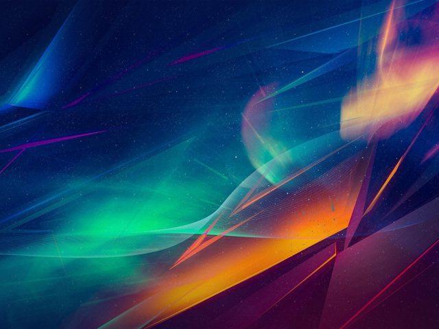 Пурпурно-синие туманные огни абстрактные