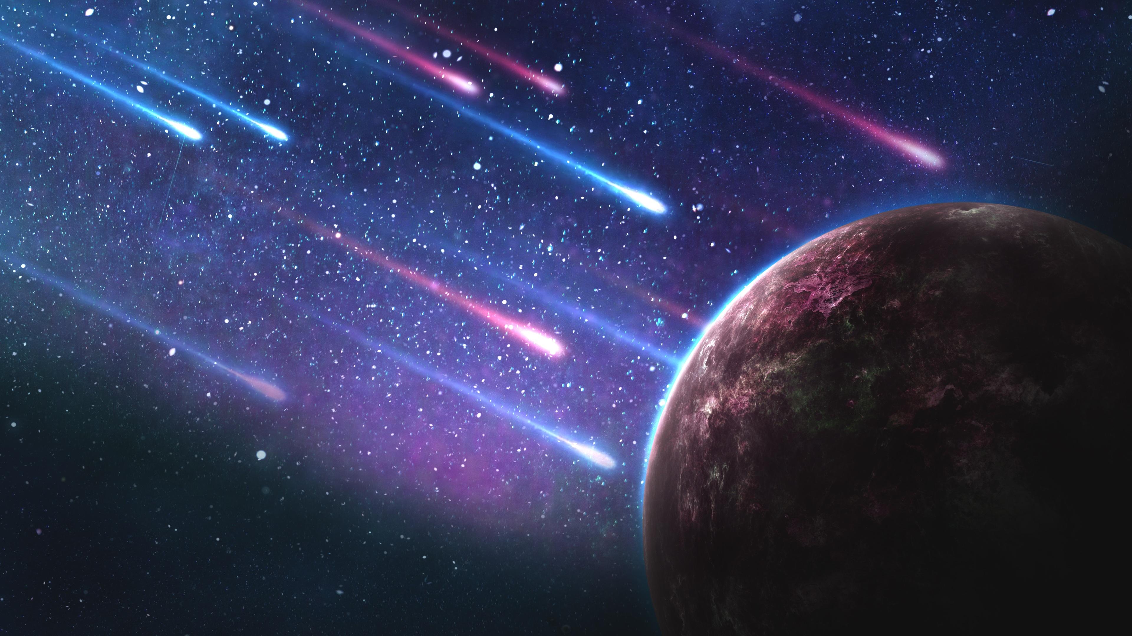 Космические метеориты обои скачать