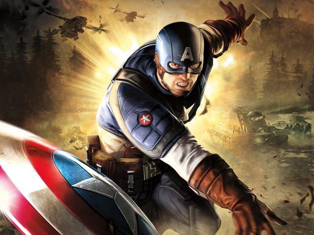 Капитан Америка произведения искусства