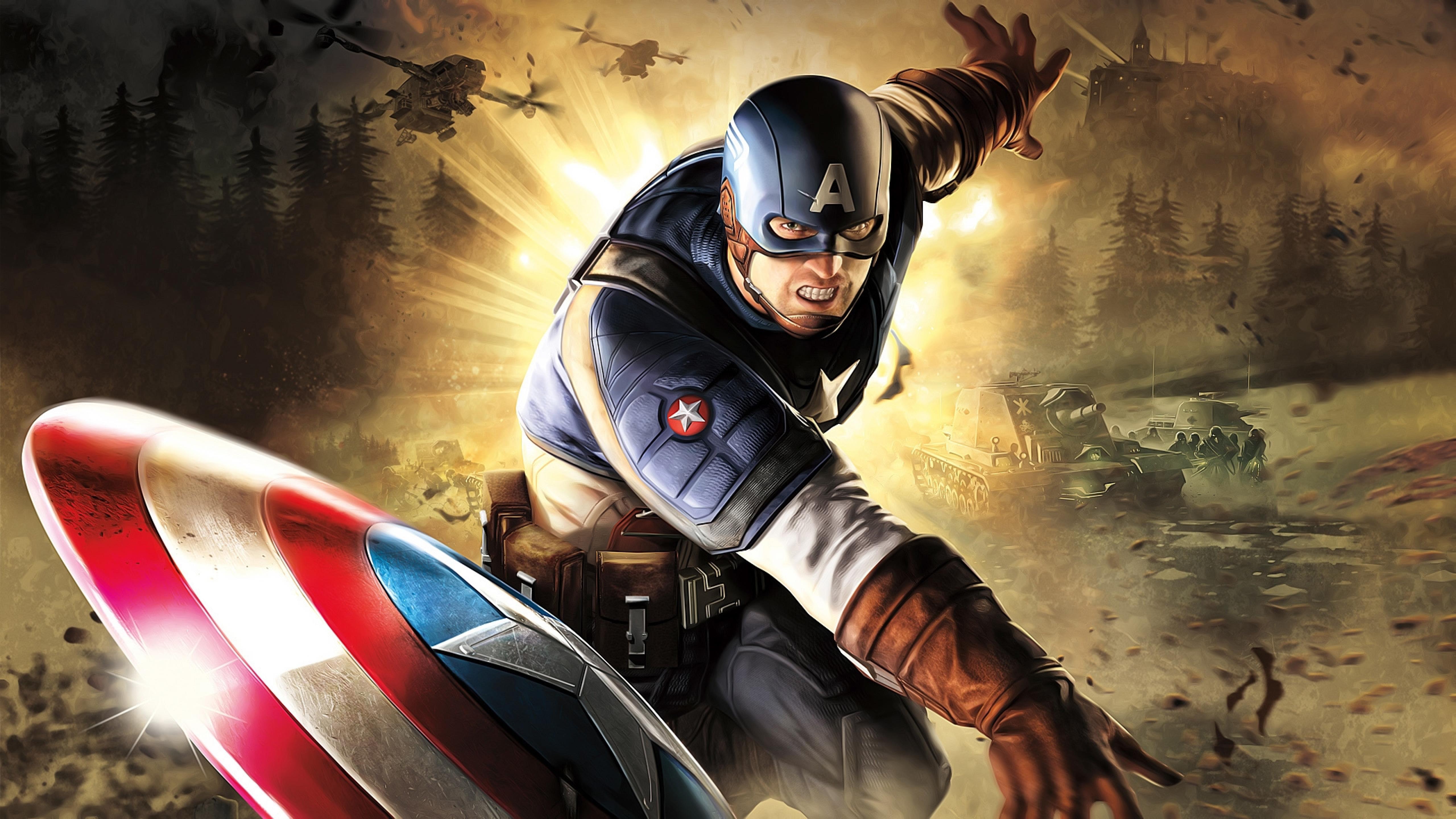 Капитан Америка произведения искусства обои скачать