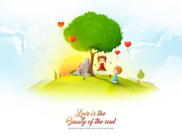 Любовь-это красота души