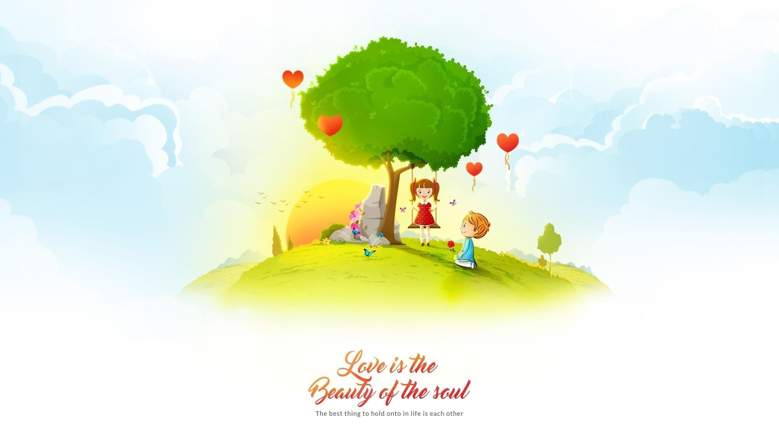 Любовь-это красота души обои скачать