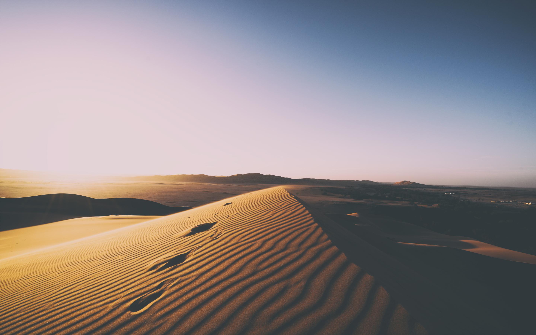Пустынные песчаные дюны обои скачать