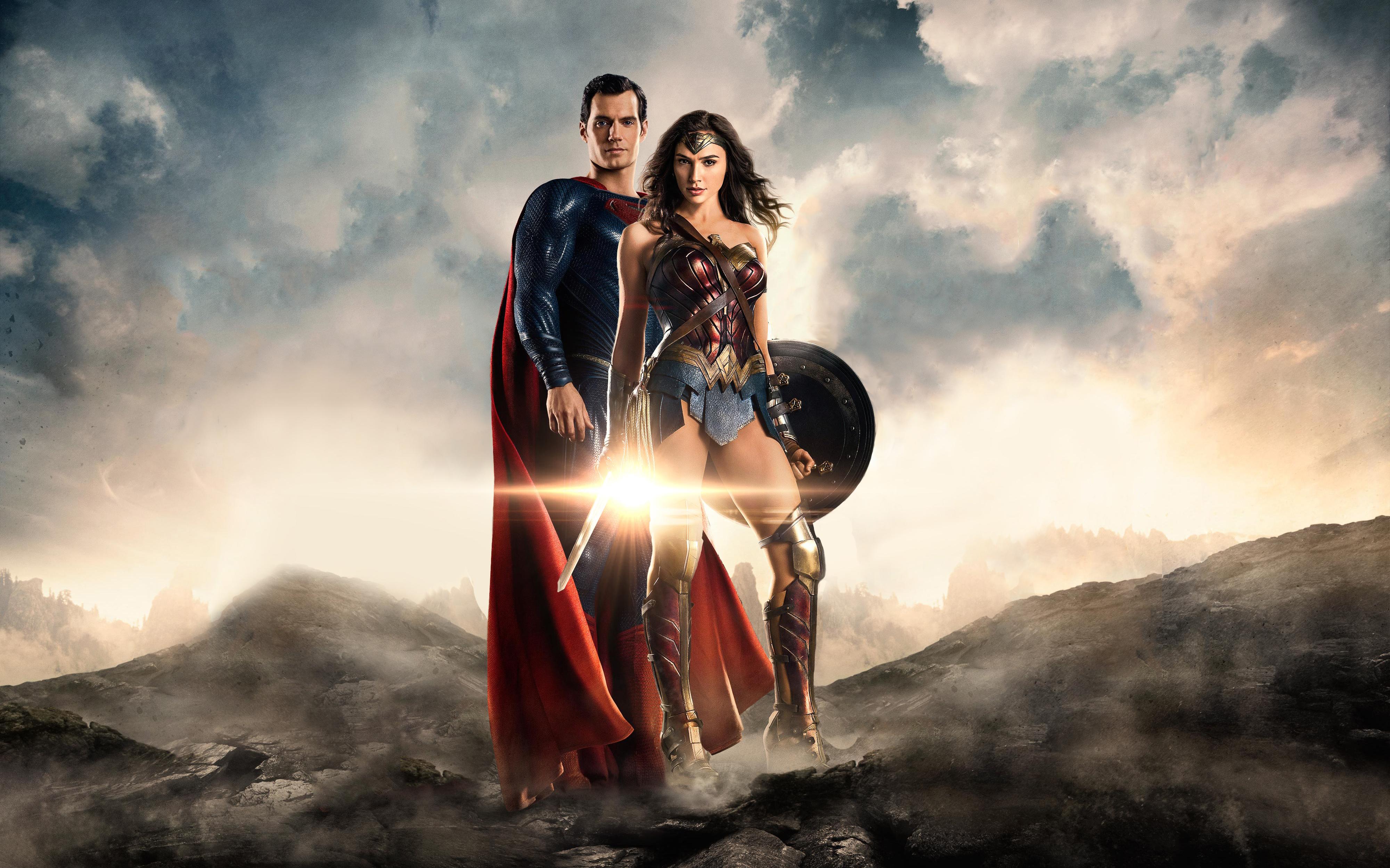 Супермен чудо женщина Лига справедливости обои скачать
