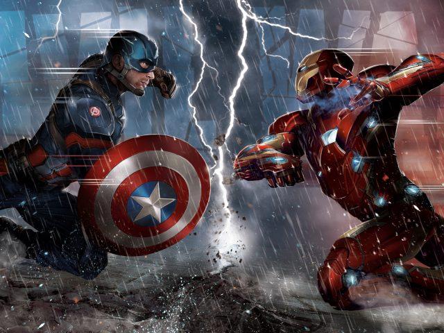 Captain america civil war concept.