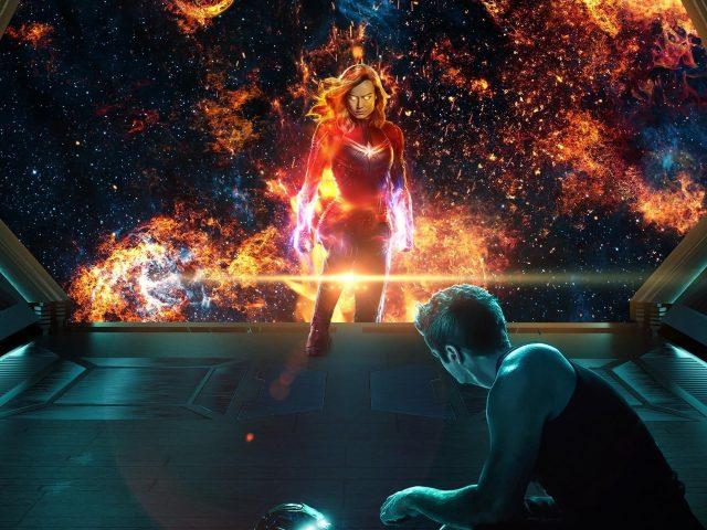 Капитан marvel Тони Старк в эндшпиле Мстителей
