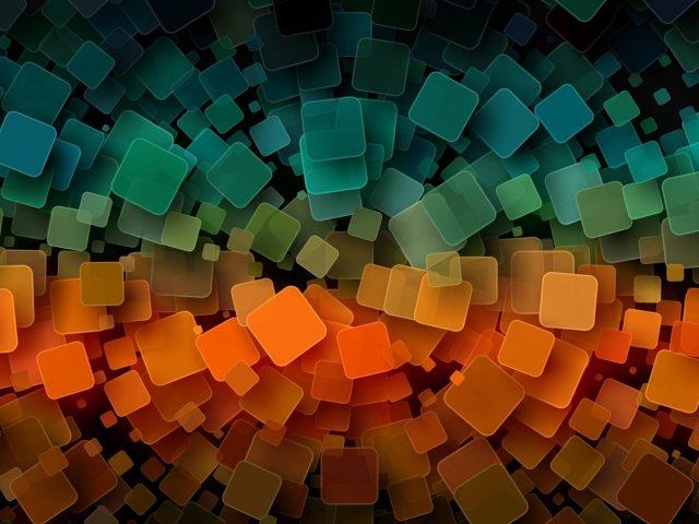 Оранжевая и синяя иллюстрация цифровое искусство абстракция