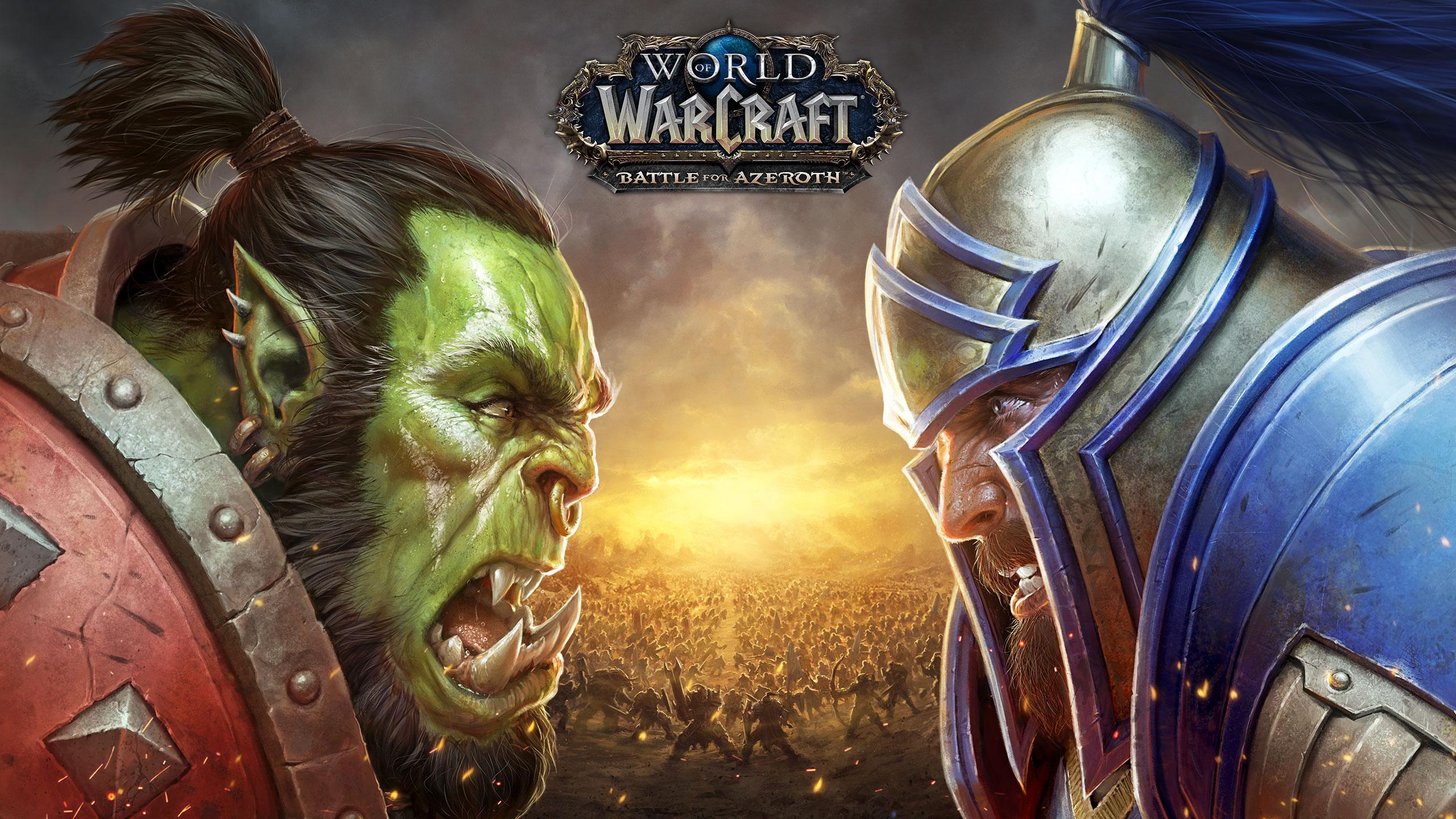 World of warcraft Битва за азерот обои скачать