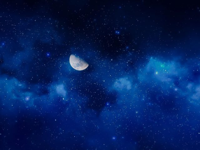 Луна звездное небо